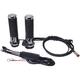 Chrome Titan-X Heated Grips for Cable Throttle  - AX068M10
