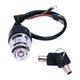 Chrome 3 Position Round Key Ignition Switch - 15009