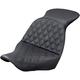 Black Explorer Lattice Stitch Touring Seat w/o Driver Backrest - 818-29-029LS