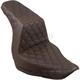 Brown Lattice Stitch Step-Up Seat - 818-29-175BR