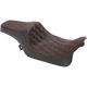 Black Double Diamond Stitch Vinyl Predator III Seat w/Red Thread - 0801-1116