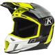 Lime/White/Gray/Black Bomber F3 Helmet