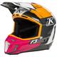 Rose/White/Orange/Black Bomber F3 Helmet