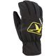 Black/Yellow Klimate Short Gloves
