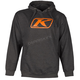Charcoal Gray/Orange Icon Pullover Hoody