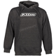 Matte Black/White Word Pullover Hoody