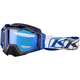 Blue/White/Black Viper Pro K Corp Snow Goggles w/Dark Smoke Blue Mirror Lens - 3901-000-000-011