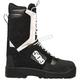 Black/White Raid Laced Boots