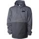 Gray 5 Badge Anorak 1/4 Zip Jacket
