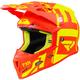 Youth Hi-Vis/Nuke Red Boost Clutch Helmet