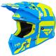 Youth Hi-Vis/Blue Boost Clutch Helmet