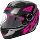Youth Black/Fuchsia/Charcoal Nitro Core Helmet