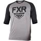Gray Heather/Black Clutch Retro 3/4 Sleeve Tech Shirt