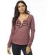 Women's Rose Thorn Airline Long Sleeve Shirt