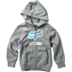 Youth Heather Graphite Backdrafter Zip Hoody