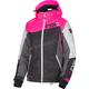 Women's Black/Fuchsia/White Track Vertical Edge Jacket