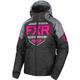 Women's Black/Charcoal/Fuchsia Clutch Jacket