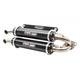 Black Stage 5 Dual Exhaust Slip-On Mufflers - TR-4165S-BK