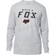 Light Heather Gray Moto-X Long Sleeve Shirt
