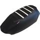 Black/White Gripper Ribbed Seat Cover - SKI-100-337