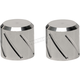 Short Spiral Style Chrome Docking Station Caps - DSC-SPRL-SC