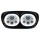 Chrome 5.75 in. Dual Halomaker LED Headlight - HW195025