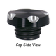 Black/Aluminum Deep Cut Gas Cap - 80084