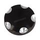 Black/Aluminum Deep Cut Gas Cap Set - 80085