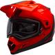 Flo Orange/Black MX-9 Adventure Switchback Snow Helmet w/Dual Lens Shield