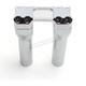 Chrome 6 in. Assault Handlebar Risers for 1-1/4 in. Bars - TM-8601-6PO