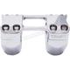 Chrome 2 in. Assault Handlebar Risers for 1 in. Bars - TM-8602-2PO