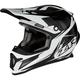 Black/White Rise Ascend Helmet