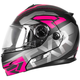 Black/Charcoal/Fuchsia Fuel Modular EVO Helmet w/Electric Shield