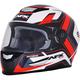 Pearl White/Red FX-99 Helmet