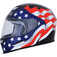 Gloss Black FX-99 Flag Helmet
