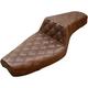 Brown Lattice-Stitch Step-Up Set   - 879-03-175BR