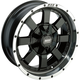 Machined Black 17 x 7  Front/Rear 420 X Wheel - 0230-0845