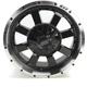 Machined Black 17 x 7  Front/Rear 420 X Wheel - 0230-0846