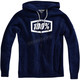 Navy/White Syndicate Zip Hooded Sweatshirt