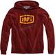 Burgundy Syndicate Zip Hooded Sweatshirt