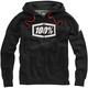 Black Heather/White Syndicate Zip Hooded Sweatshirt