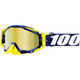Navy/White Racecraft Bibal Goggles w/Gold Mirror Lens  - 50110-268-02