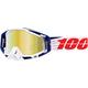 White/Red Racecraft Bibal Goggles w/Gold Mirror Lens - 50110-269-02