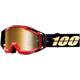 Black Racecraft Hot Rod Goggles w/Gold Mirror Lens  - 50110-274-02