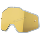 Replacement Mirror Gold Lens for Racecraft/Accuri Goggles - 51004-009-02
