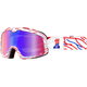 Barstow Classic Death Spray Goggles w/Red and Blue Mirror Lens  - 50002-298-02