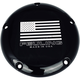 Black Large 5-Hole American Flag Derby Cover w/Contrast Lasered Logo - 9162