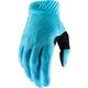 Ice Blue/Black Ridefit Gloves