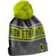 Gray/Green Petrol Pom Beanie - F09002200-000-301