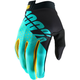 Black/Aqua I-Track Gloves
